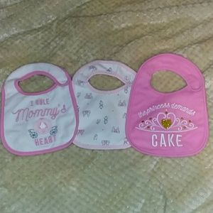 Like new! Pink waterproof bib set